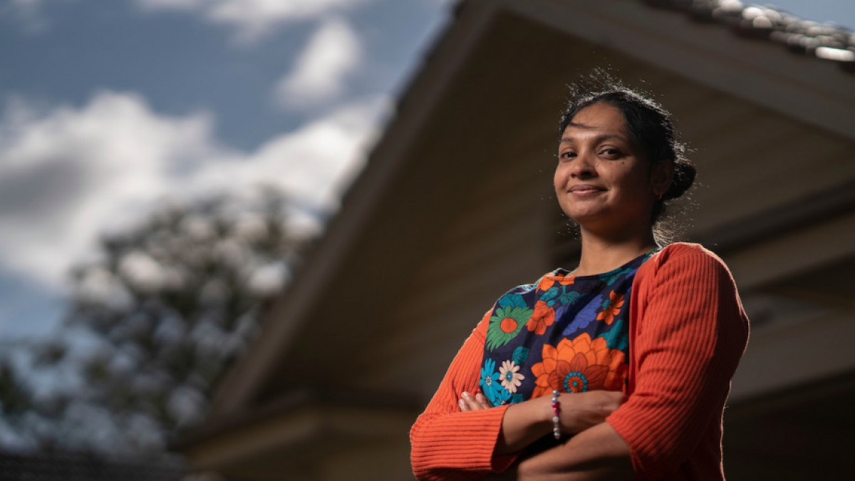 Dr Aparna Lal with arms crossed
