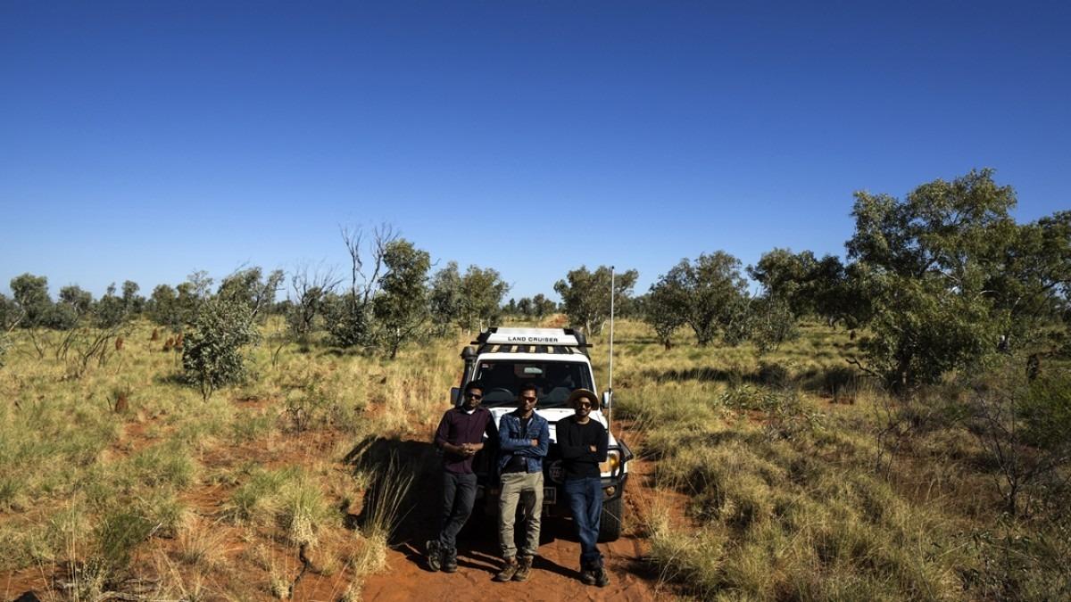 ANU staff on location: Joel, Sam and Rajesh