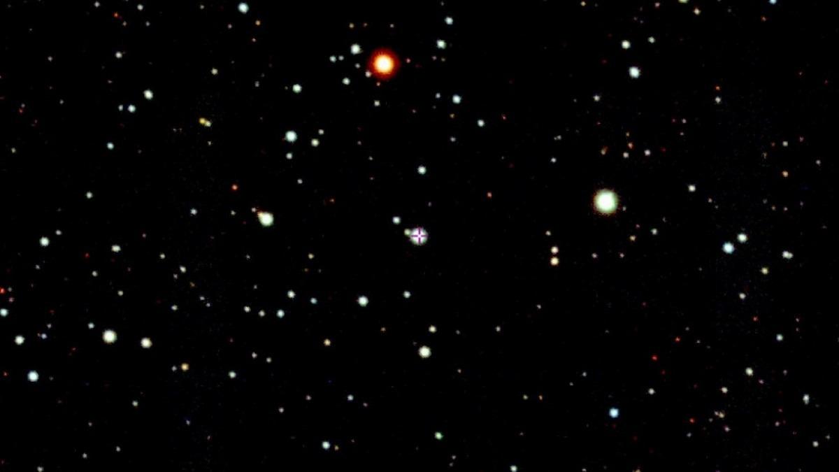 Telescope image of constellation Aquila close to border with Capricornus and Sagittarius.