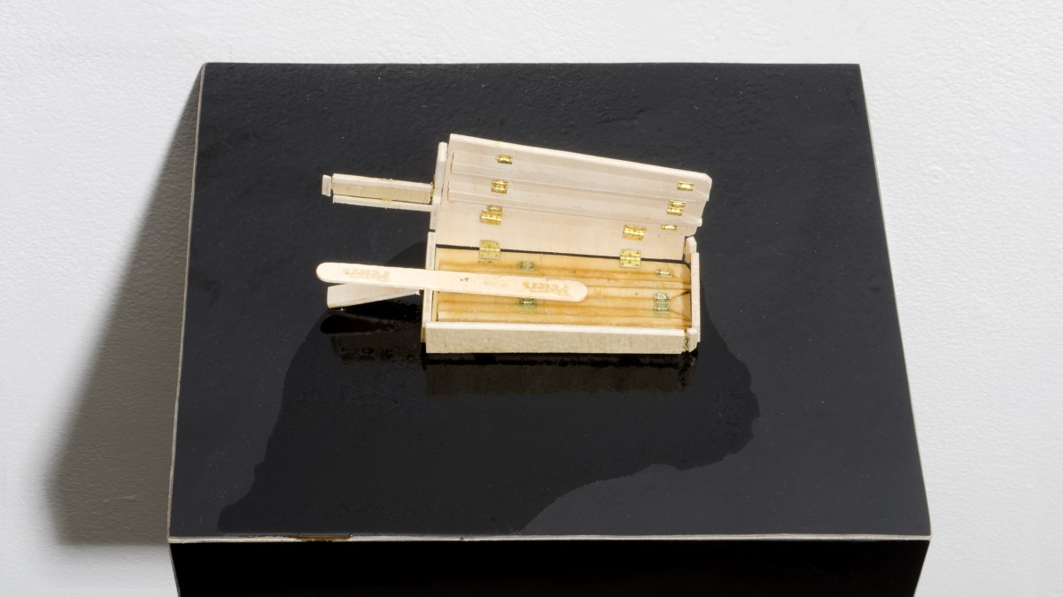 Image of a ply wood icy pole sculpture